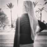 The girl with longhair  sunset palmademallorca atardecer sun flareshellip