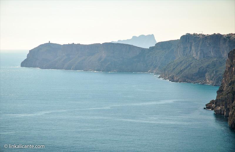 Vistas hacia Cap d'Or y Penyal d'Ifac