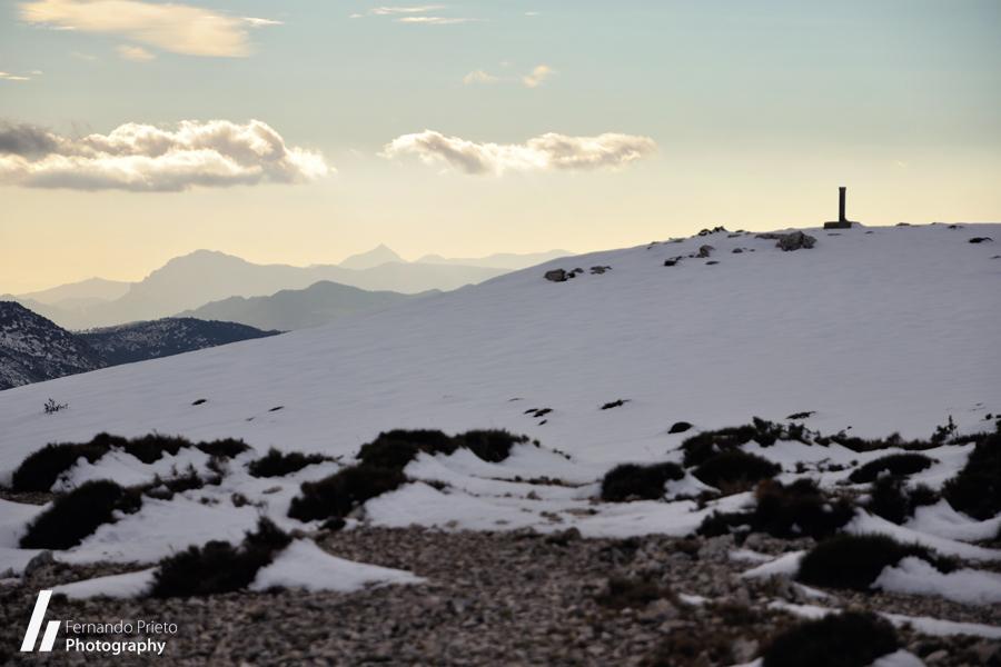 Malla del Llop con nieve