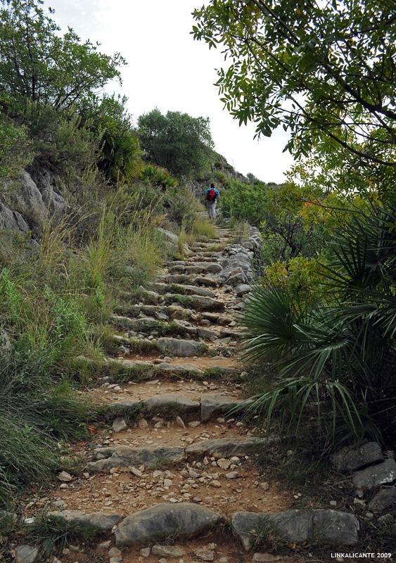 Barranc de l'Infern - Escalones de piedra