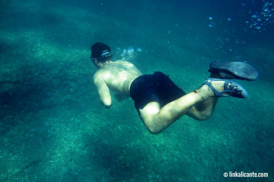Snorkel en la Cova Tallada