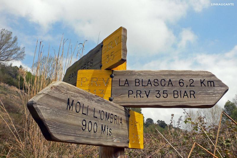 Ruta Senderismo Penya Blasca Molí l'Ombria