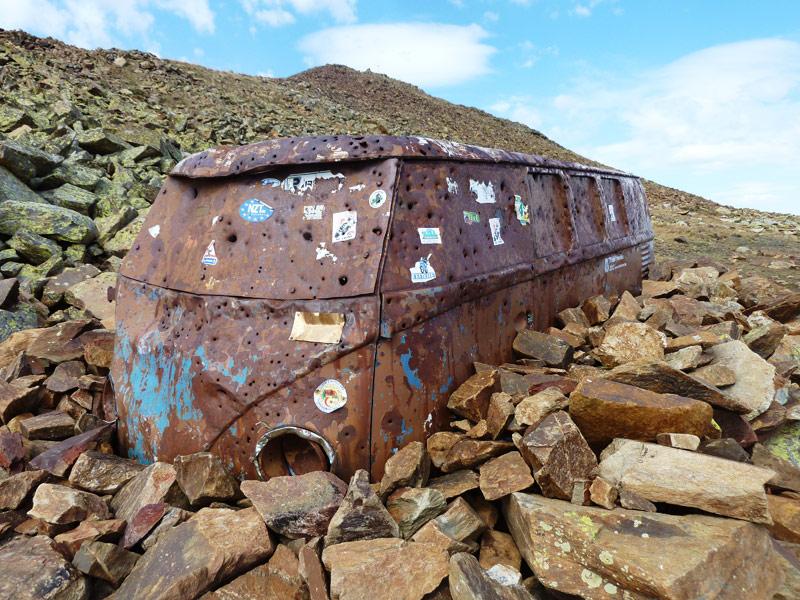 Volkswagen T1 abandonada a 2600 metros