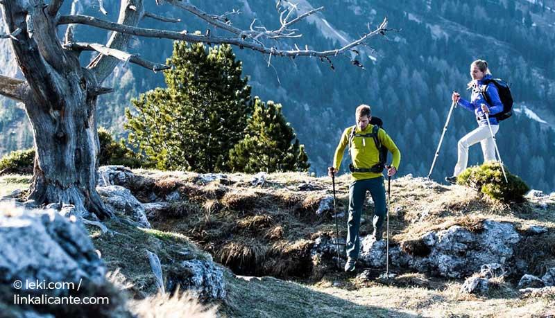 bastones trekking montaña