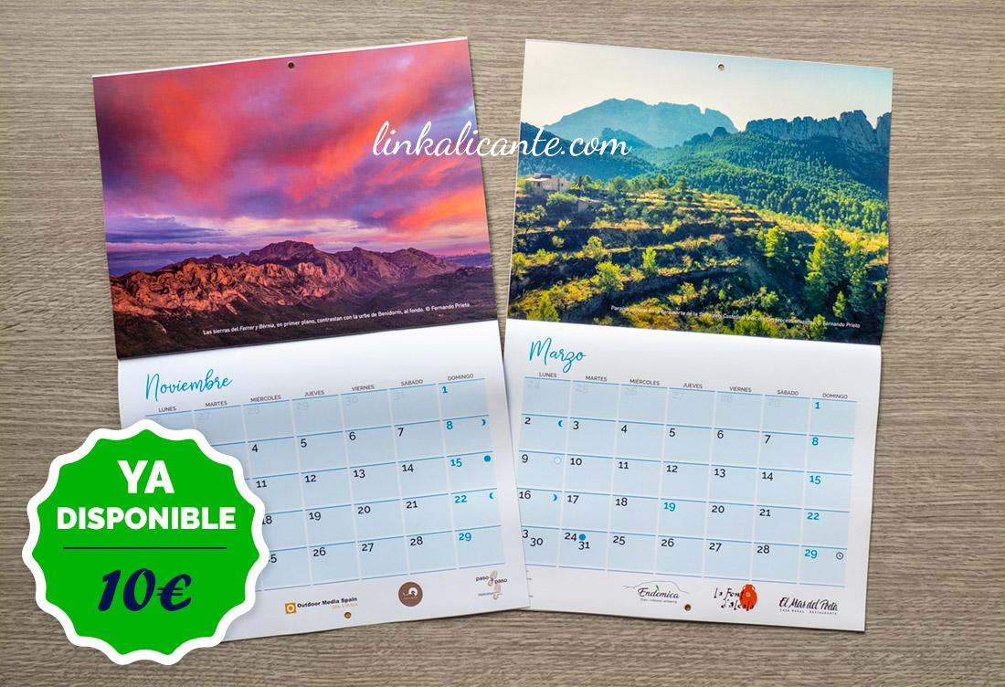 Calendario Montañas Alicante 2020 LinkAlicante.com
