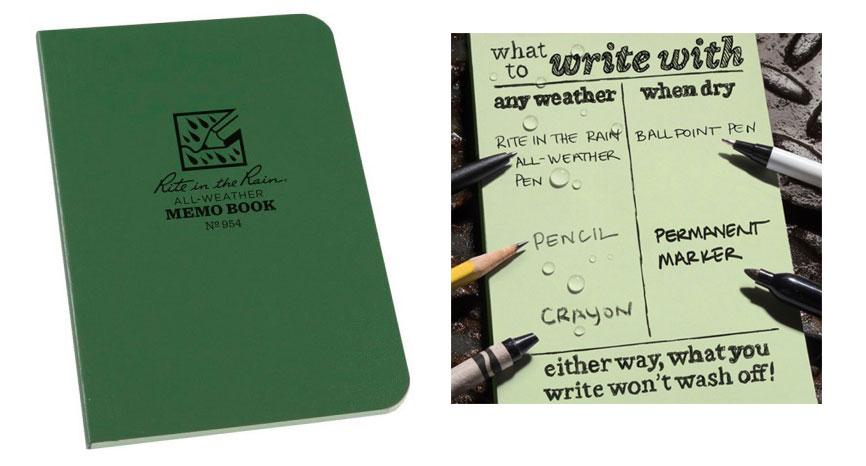 regalo montañeros bloc de notas impermeable