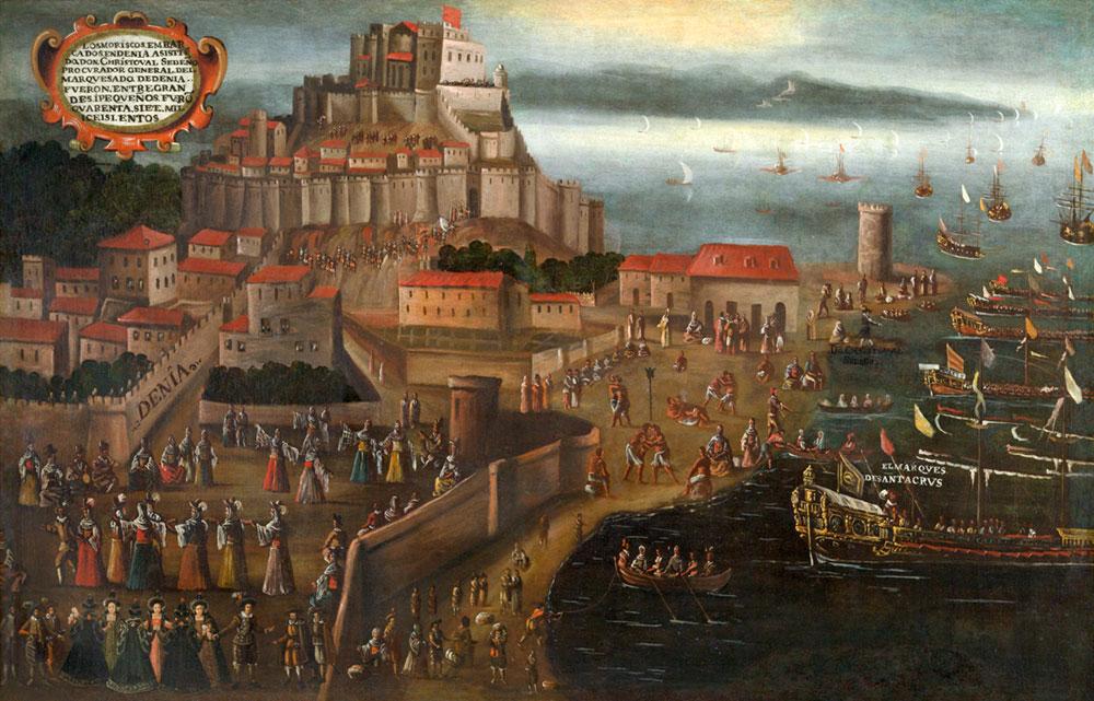 Expulsion de los Moriscos en Dénia, cuadro de Vicente Mostres