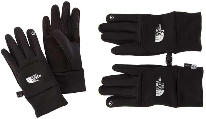 guantes north face smartphone montaña