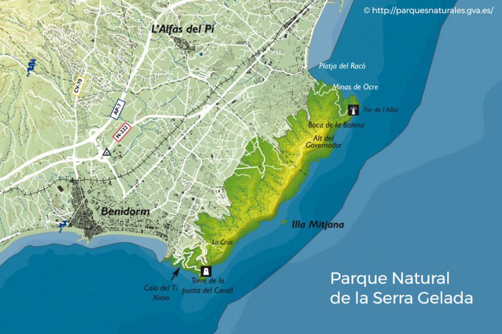 mapa parque natural serra gelada