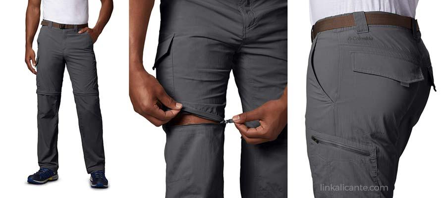 pantalones convertibles montaña hombre