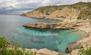 Playa del Racó del Conill, sendero de la costa de la Vila Joiosa