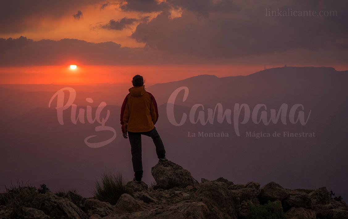Ruta de subida al Puig Campana desde Finestrat