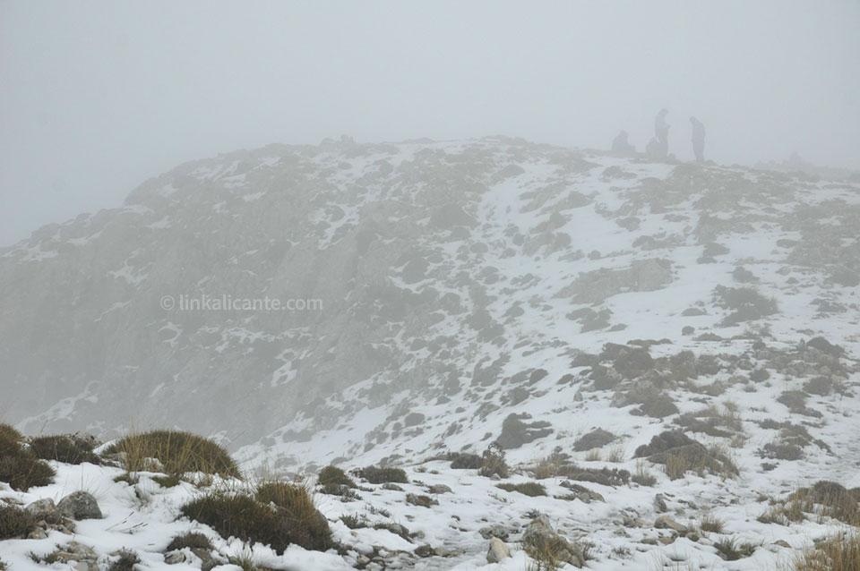 Ruta Aitana con nieve desde Partegat