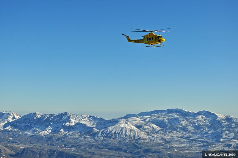 Ruta Montcabrer desde Agres con nieve