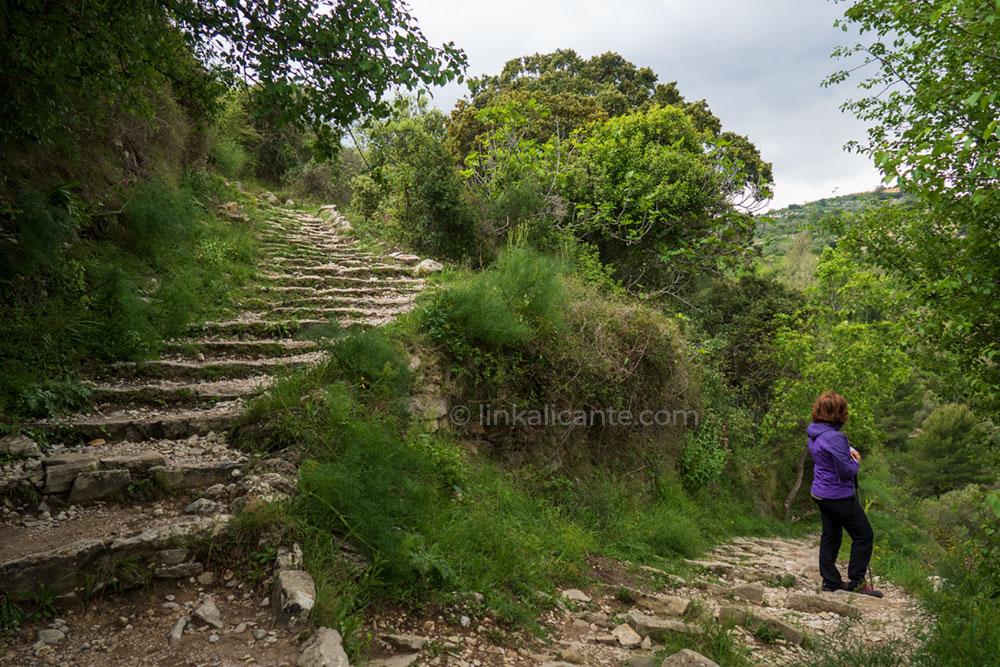 Ruta de senderismo Barranc de l'Infern, Vall de Laguar, Alicante