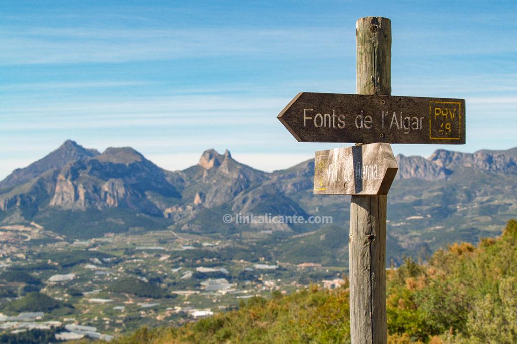 Ruta senderismo Bèrnia desde Fonts Algar