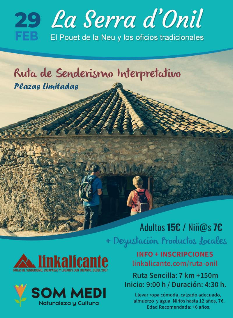 Ruta de Senderismo Interpretativo en la Serra d'Onil