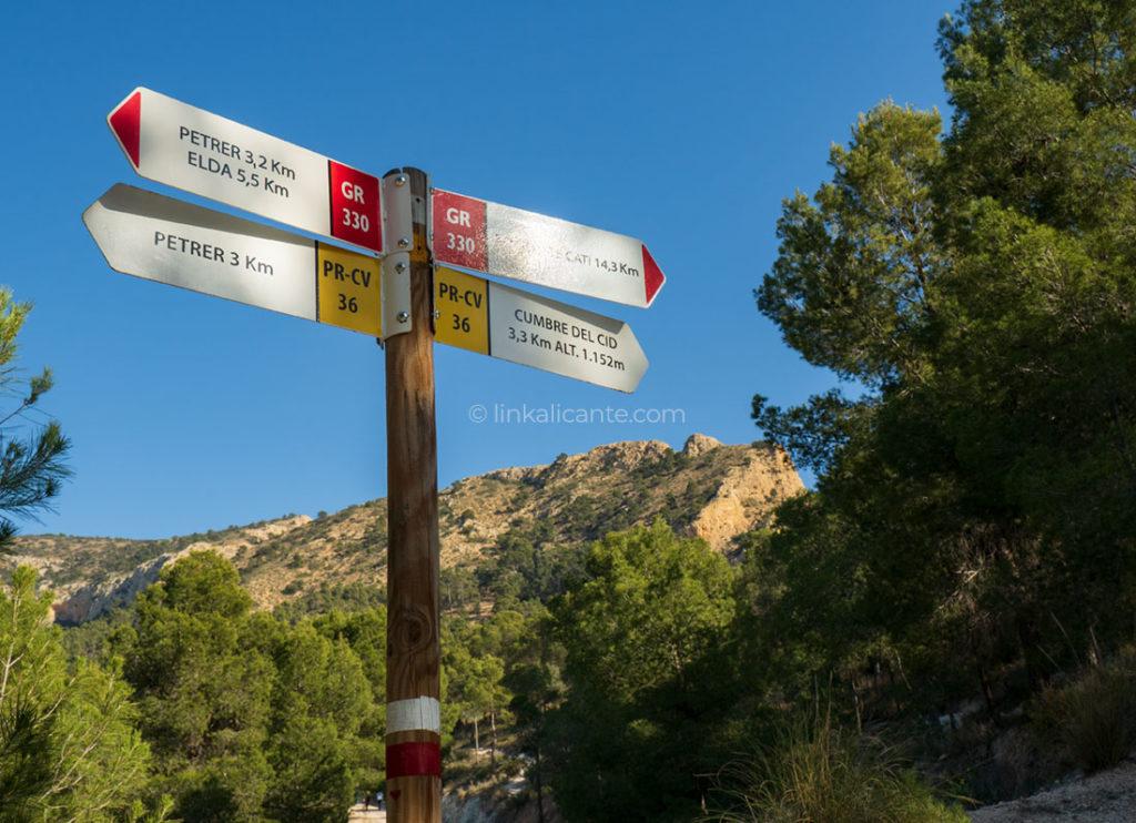 Ruta Senderismo Sierra del Cid PR-CV 36