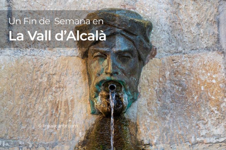 Fuente de Al-Azraq en la Vall d'Alcalà (Alicante)