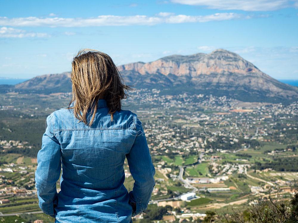 El Montgó desde el Puig de la Llorença